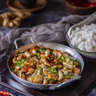 Vürtsikas kanafilee austrikastmes India pähklitega