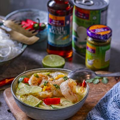 Roheline köögiviljakarri krevettidega